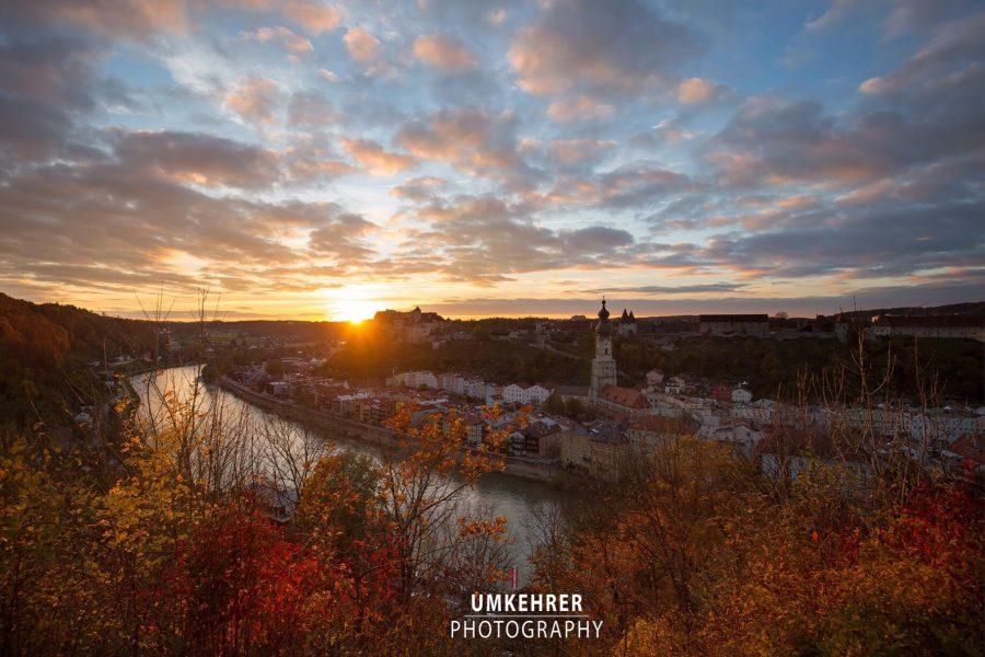 Burghausen im Herbst